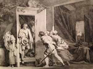 J.-H. Fragonard, l'armoire, 1778. Paris, Bibliothèque Nationale de France.