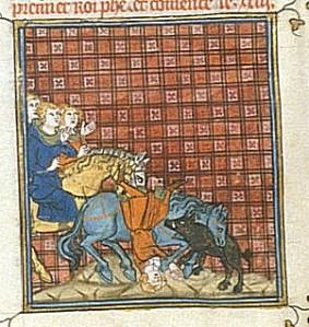 La mort du roi Philippe. Ms 677 f67v, Bibliothèque municipale de Besançon