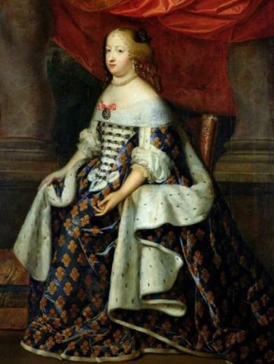 Charles Beaubrun, portrait de Marie-Thérèse d'Autrice en Reine