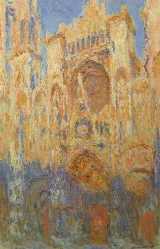 C. Monet, La cathédrale de Rouen, soleil couchant, Paris, musée Marmottan