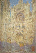 C. Monet, La cathédrale de Rouen, midi, Moscou, musée Pouchkine