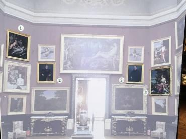 Cartel de l'exposition Heures Italiennes au château de Chantilly