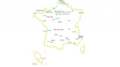 Les villes investies à l'occasion des 40 ans du Centre Pompidou (c) Centre Pompidou