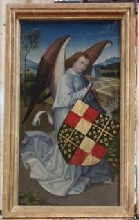 Armoiries de Michel de Chaugy - Retable de la Passion de l'église Saint Martin d'Ambierle