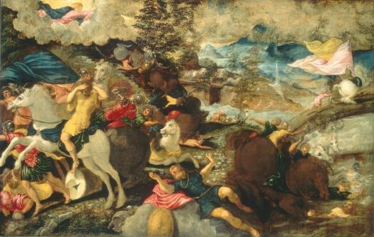 Jacopo Tintoretto (Italian, 1518 - 1594 ), The Conversion of Saint Paul, c. 1545, oil on canvas, Samuel H. Kress Collection