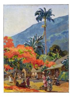 Le flamboyant - Martinique © musée du quai Branly - Jacques Chirac, photo Claude Germain