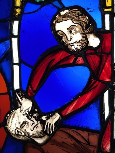 L'aveuglement de Samson, vitrail de la Ste Chapelle (c) Arts & Stuffs