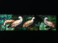 Quatre perdrix, vitrail normand vers 1500 (c) Arts & Stuffs