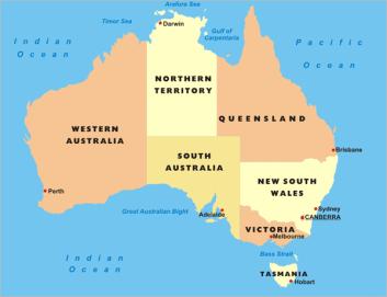 carte australie 2