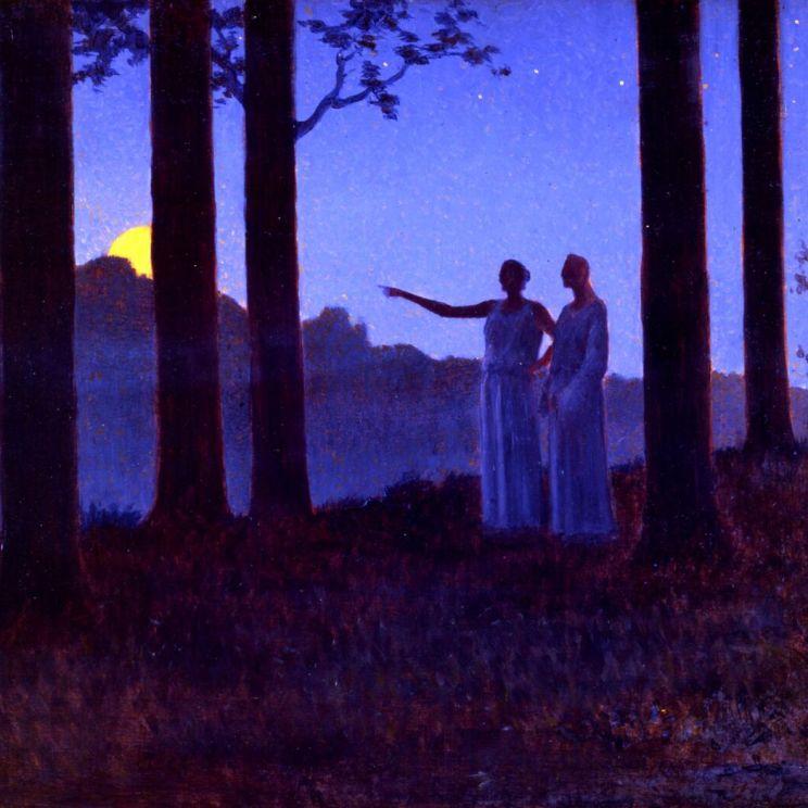 Alphonse Osbert, Le Mystère de la nuit, 1897. Collection privée© Thomas Hennocque