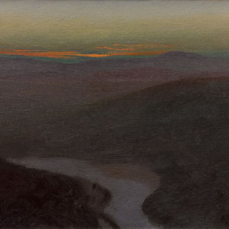 Charles-Marie Dulac, Riviere a l'aube, 1897. Collection privée © Thomas Hennocque
