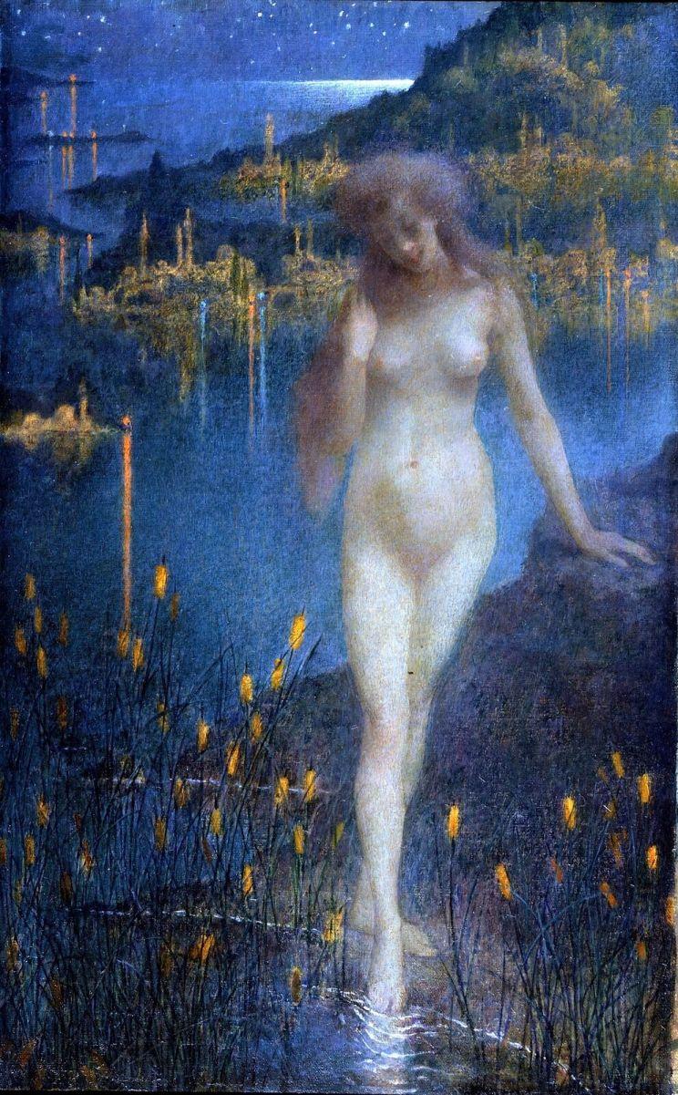 Lucien Levy-Dhurmer, Nocturne sur le Bosphore, ca. 1897. Collection privée© Thomas Hennocque